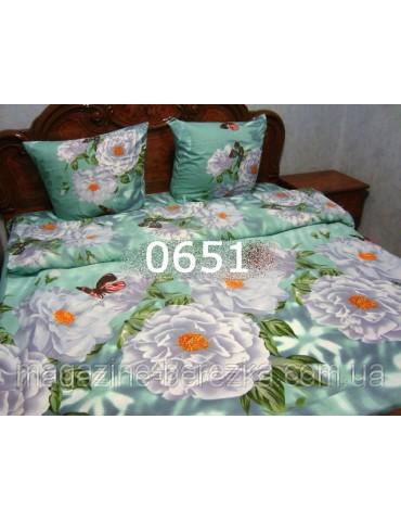 Полуторный комплект постельного, ранфорс, рисунок 3Д, 100% хлопок, Арт. 0651
