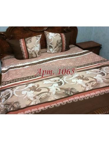 Полуторный комплект постельного, ранфорс, рисунок 3Д, 100% хлопок, Арт. 1065