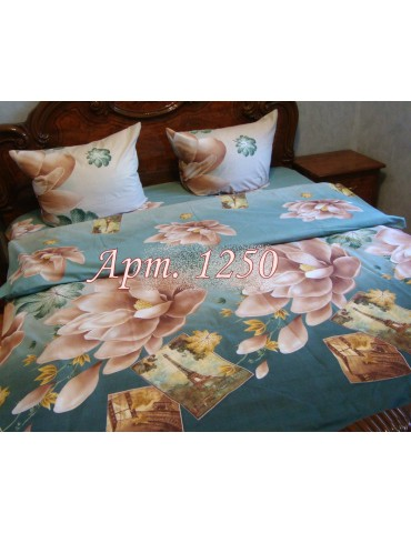 Семейный комплект постельного белья из ранфорса, рисунок 3Д, 100% хлопок, Арт.1250