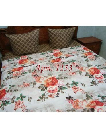 Семейный комплект постельного белья из ранфорса, рисунок 3Д, 100% хлопок, Арт.1153