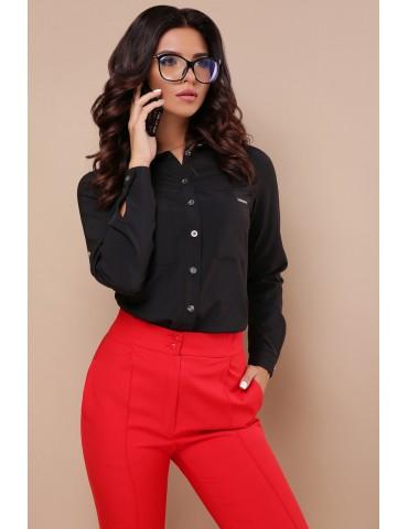 Черная блузка с длинным рукавом, Кери