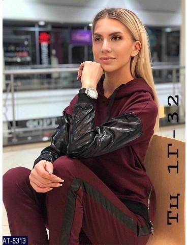 """Спортивный костюм """"Лика"""" р. 42-46 бордо"""