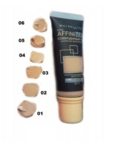 Тональный крем с матирующим эффектом MAYBELLINE AFFINIMAT SPF 17 40ml / тон 03, 04, 06
