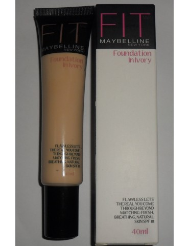 Тональный крем Maybelline Fit me foundation in ivory / Мейбелин фит ми / тон 01