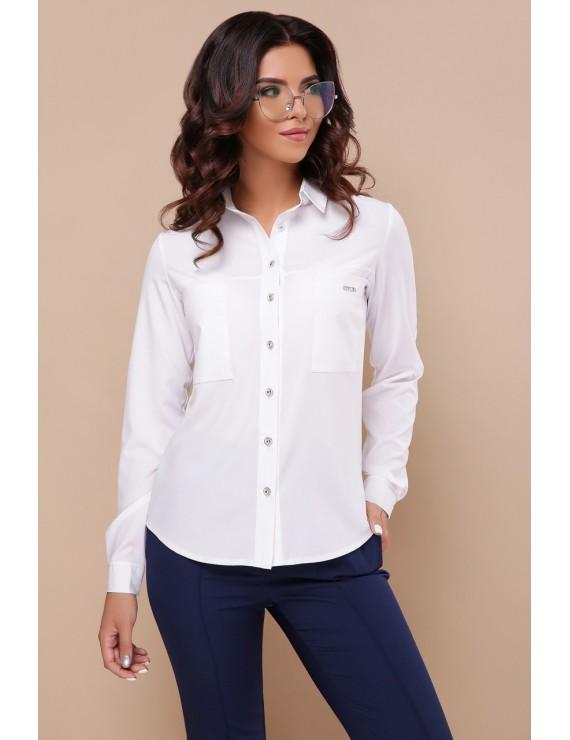 24c8d6ee727d93c Белая блузка с длинным рукавом, Кери – купить в интернет-магазине ...